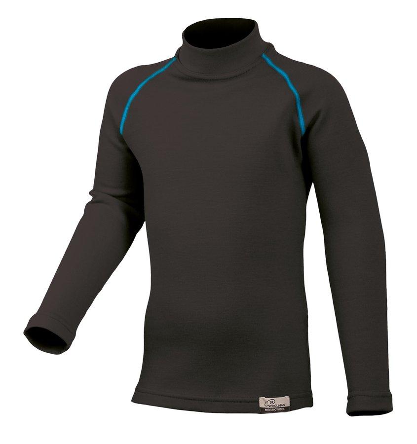 Černé dětské tričko s dlouhým rukávem Lasting - velikost 140