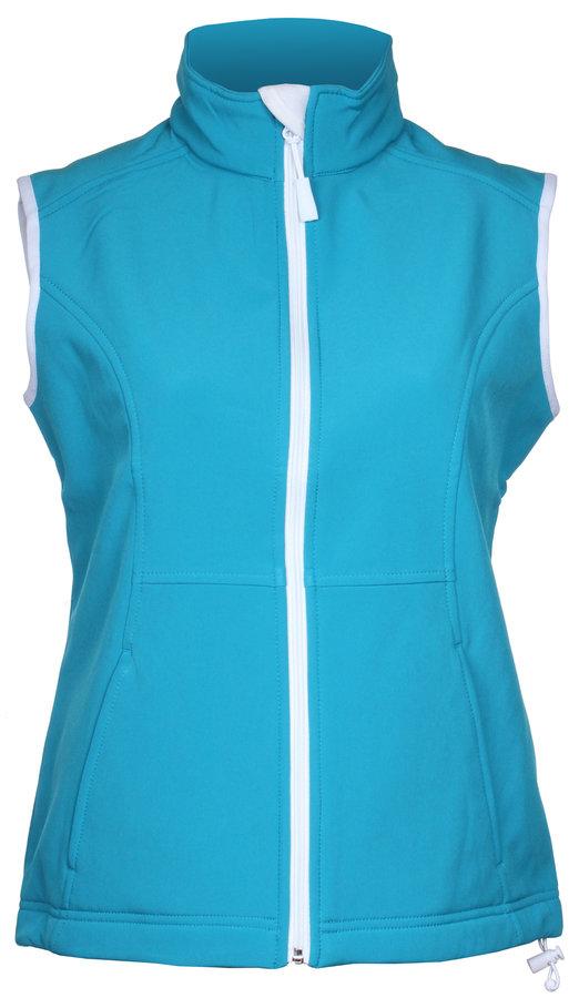 Modrá softshellová dámská vesta Adler - velikost S