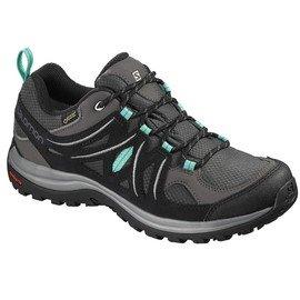 Šedé voděodolné dámské trekové boty - obuv Salomon