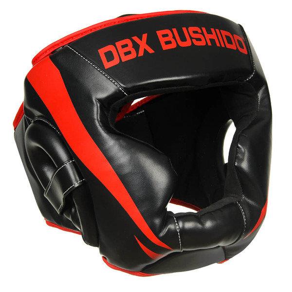 Černo-červená boxerská přilba Bushido