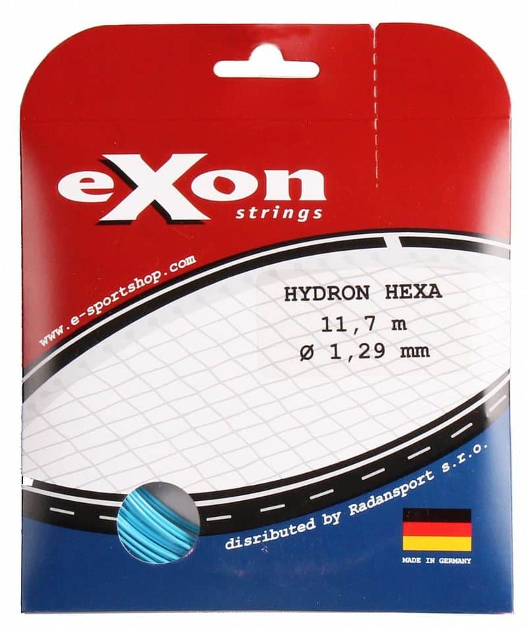 Tenisový výplet - Hydron Hexa tenisový výplet 11,7 m barva: modrá;průměr: 1,19