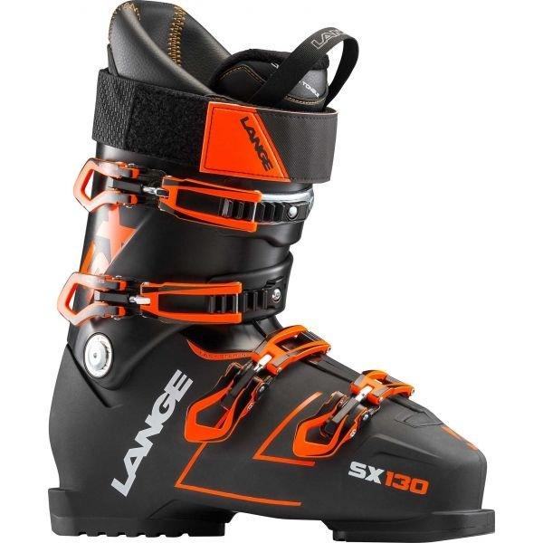 Černo-oranžové pánské lyžařské boty Lange - velikost vnitřní stélky 30 cm