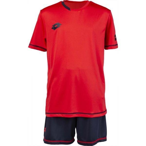 Červený chlapecký fotbalový komplet Lotto - velikost XL