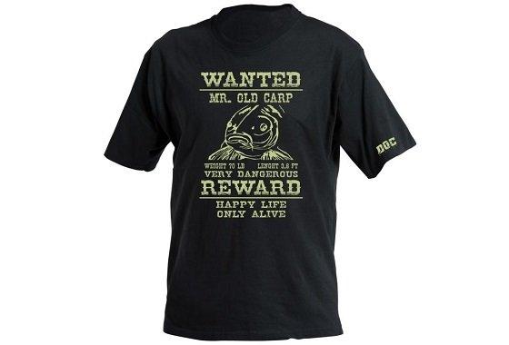 Černé unisex tričko DOC Fishing