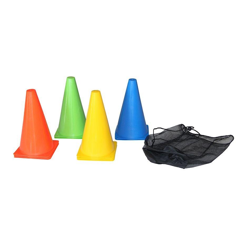 Různobarevný tréninkový kužel Tunturi - 10 ks