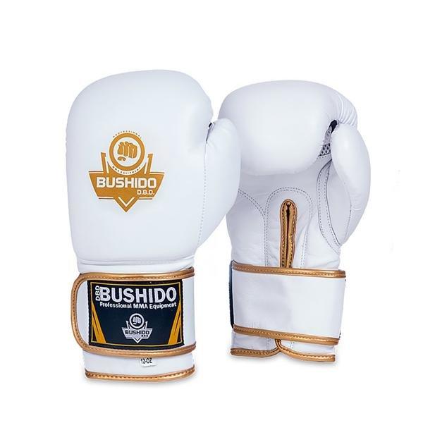 Bílo-zlaté boxerské rukavice BUSHIDO