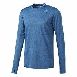 Modré pánské tričko s dlouhým rukávem Adidas