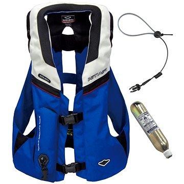 Bílo-modrá airbagová vesta Hit-Air