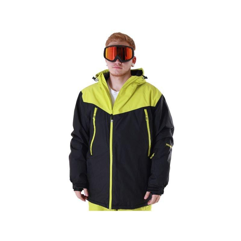Černo-zelená pánská snowboardová bunda Palmer - velikost XS