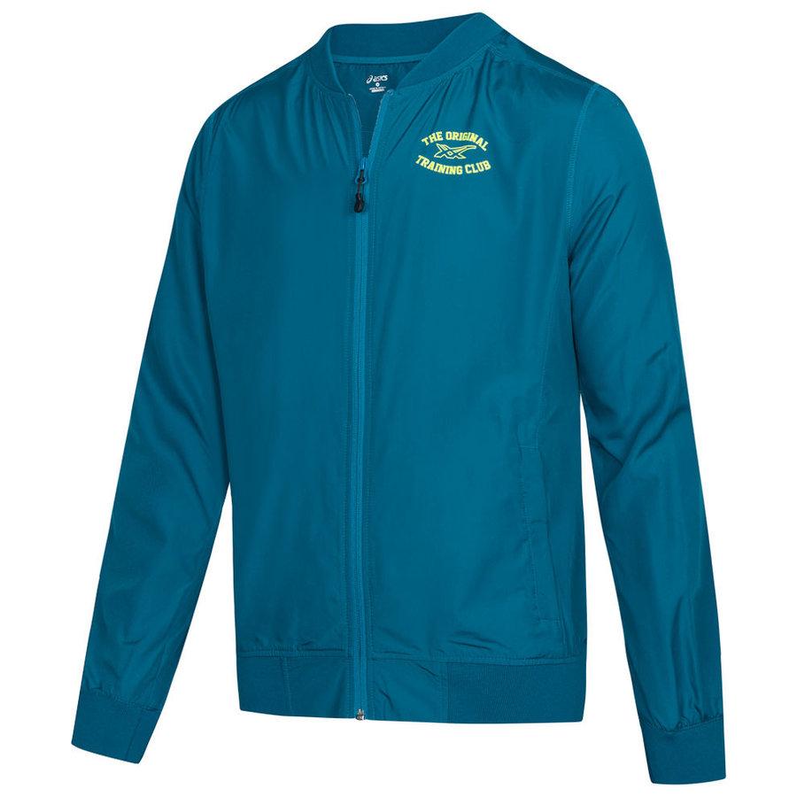 Modrá sportovní pánská bunda Asics - velikost M