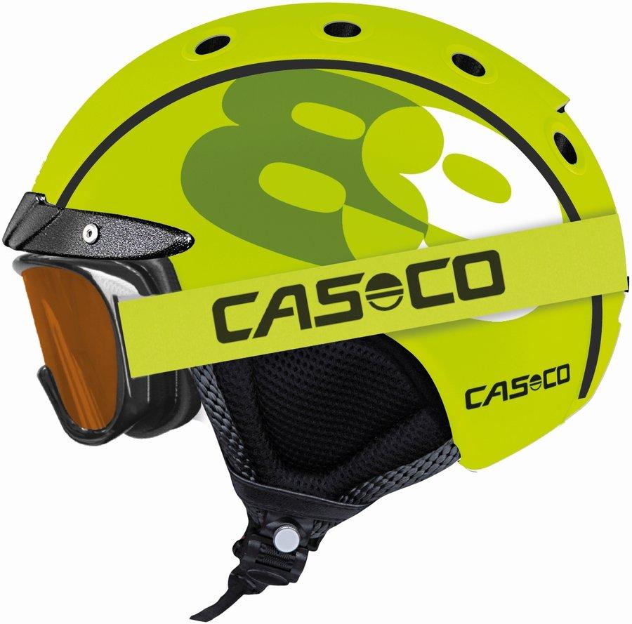 Zelená chlapecká lyžařská helma Casco