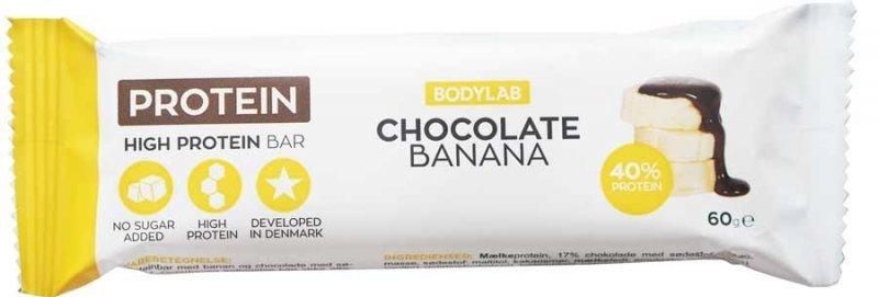Proteinová tyčinka - High Protein Bar - Bodylab Banán - Čokoláda 60g