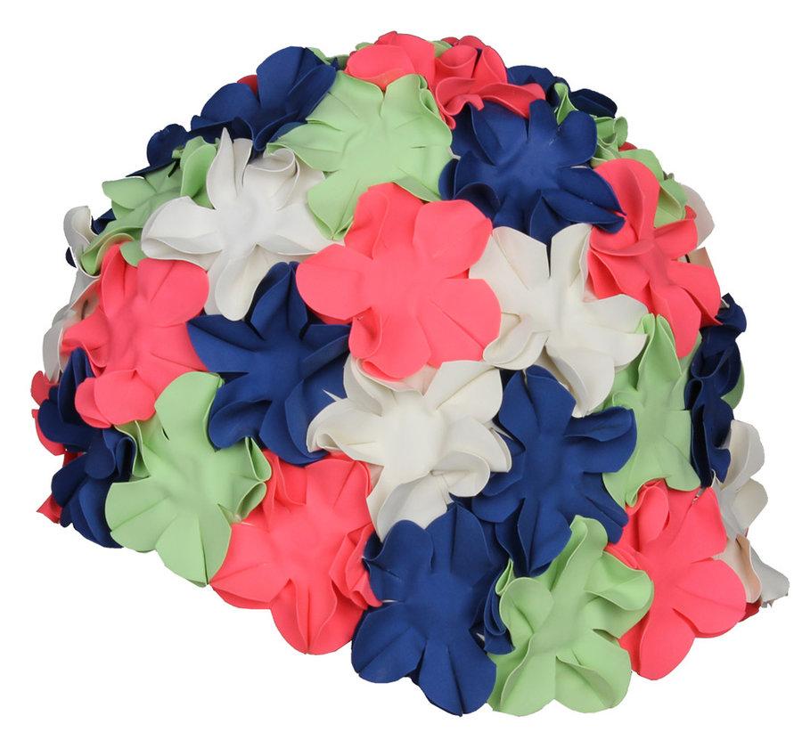Zelená pánská nebo dámská plavecká čepice Bloom, Aqua-Speed