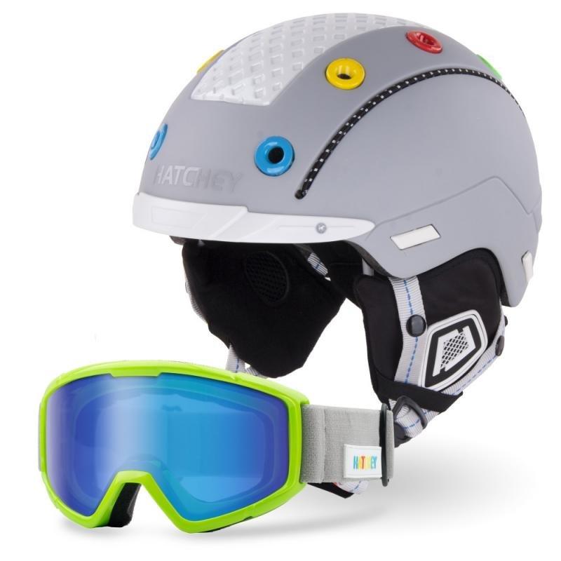 Šedá lyžařská helma Hatchey