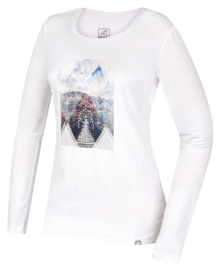 Bílé dámské tričko s dlouhým rukávem Hannah - velikost 42