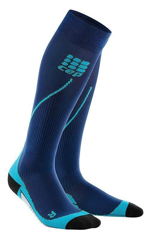 Modré vysoké běžecké ponožky CEP - univerzální velikost