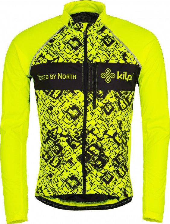 Žlutá pánská cyklistická bunda Kilpi - velikost XXL