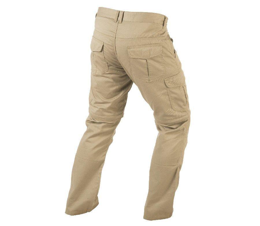 Béžové pánské motorkářské kalhoty Trilobite - velikost 30