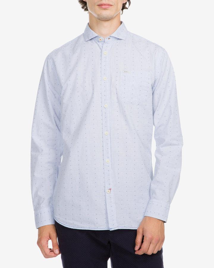 Modrá pánská košile s dlouhým rukávem Pepe Jeans