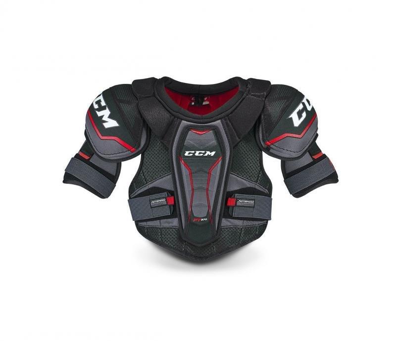 Černý hokejový chránič ramen CCM - velikost L