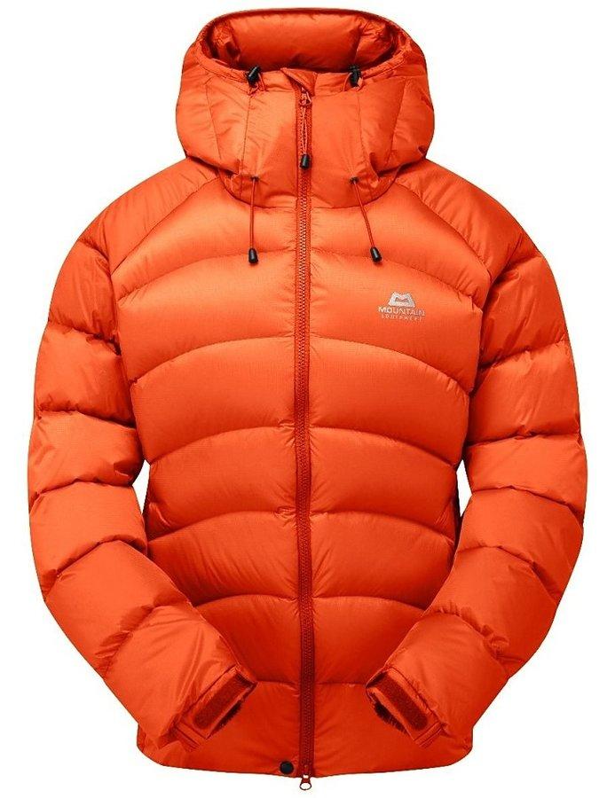 Oranžová zimní dámská turistická bunda Mountain Equipment