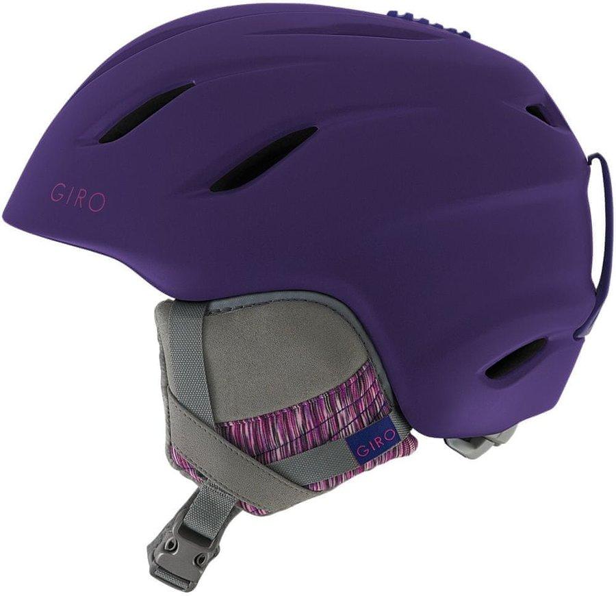 Fialová dámská lyžařská helma Giro - velikost 52-55 cm