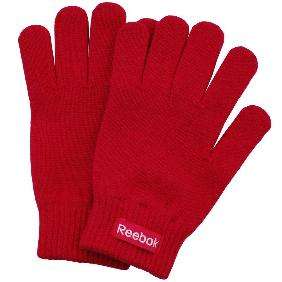 Červené dětské zimní rukavice Reebok