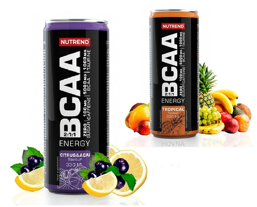 BCAA - Nutrend BCAA ENERGY 330ml příchuť tropical berry