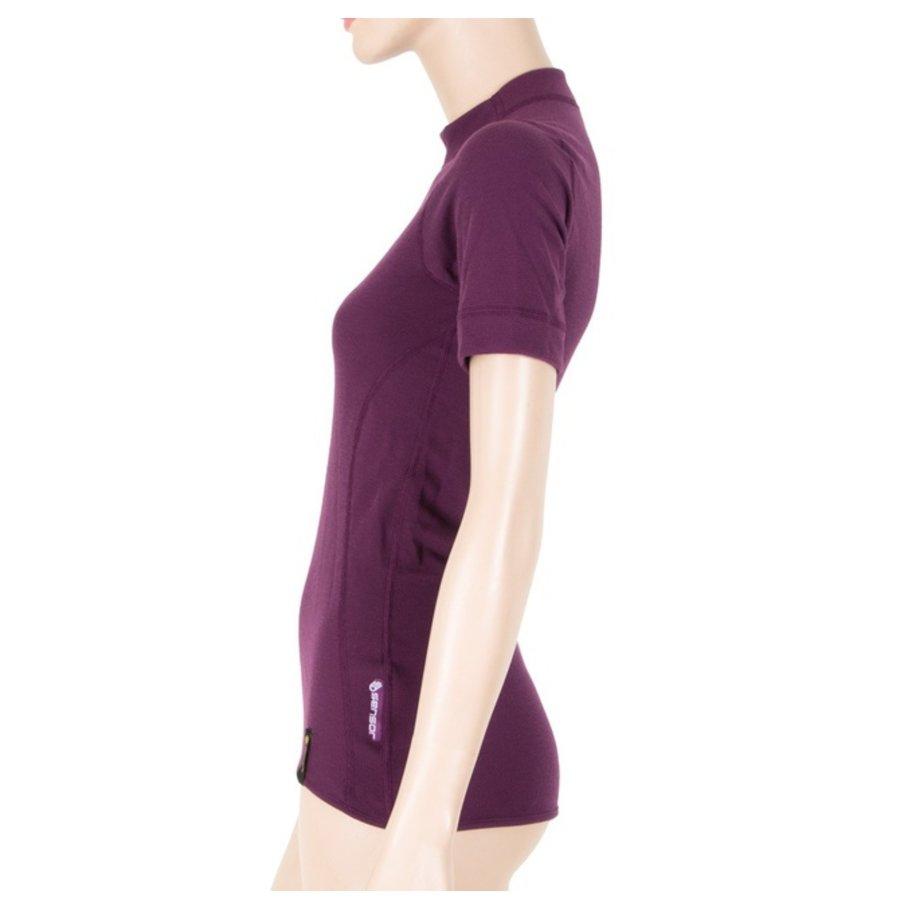 Fialové dámské tričko s krátkým rukávem Sensor - velikost XL
