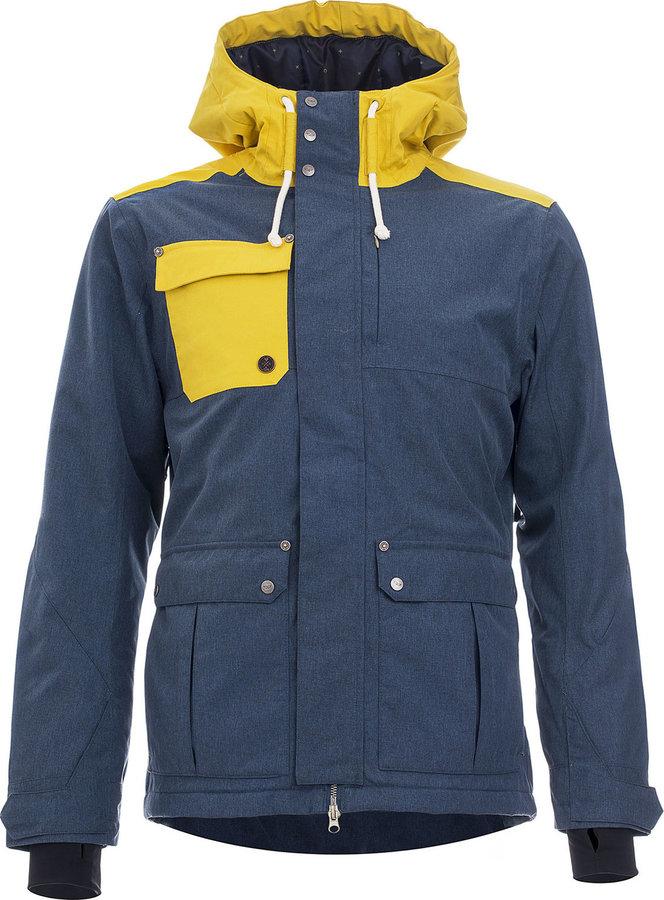Modrá zimní pánská bunda s kapucí Woox - velikost M