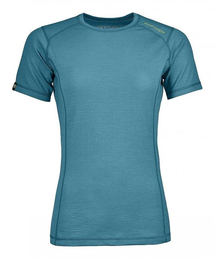 Modré dámské termo tričko s krátkým rukávem Ortovox