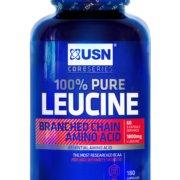 """L-Leucin USN """"bez příchutě"""" - 180 ks"""
