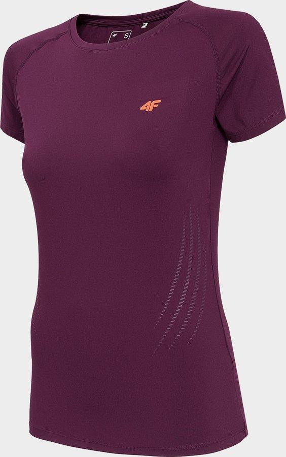 Fialové dámské funkční tričko s krátkým rukávem 4F