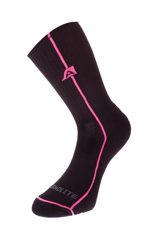 Černé vysoké ponožky Alpine Pro - velikost L