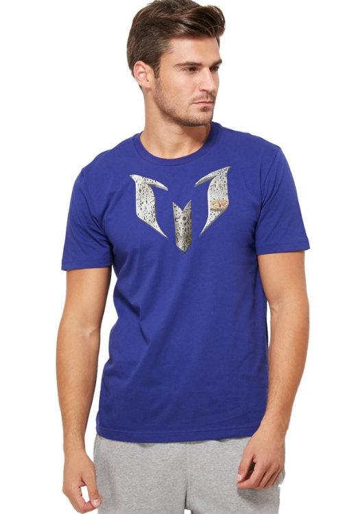 Fialové pánské tričko s krátkým rukávem Adidas