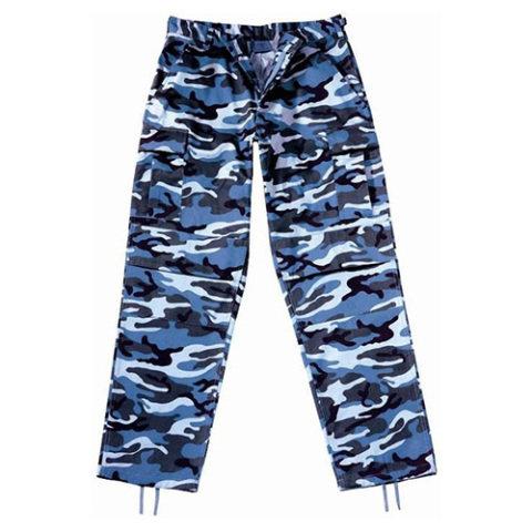 Kalhoty - Kalhoty BDU SKY BLUE CAMO