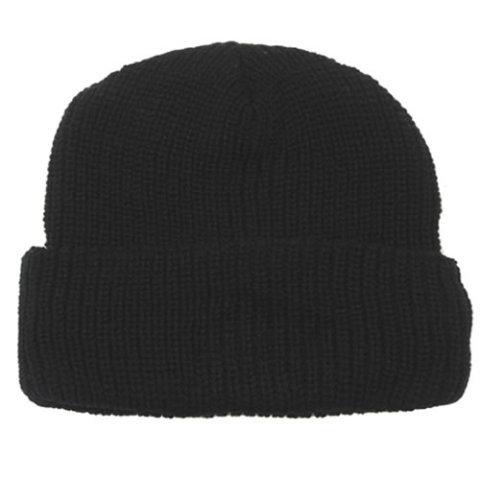 Zimní čepice - Čepice pletená Acryl ČERNÁ