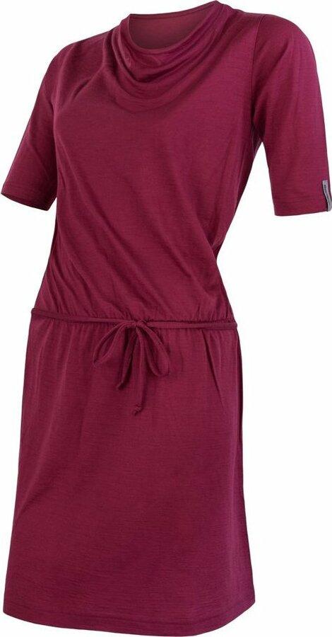 Fialové dámské šaty Sensor