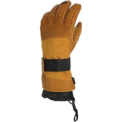 Hnědé lyžařské rukavice Wed'ze - velikost S
