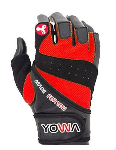 Červené fitness rukavice YOWA
