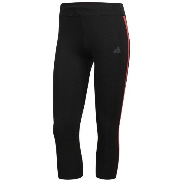 Černé 3/4 dámské běžecké kalhoty Adidas