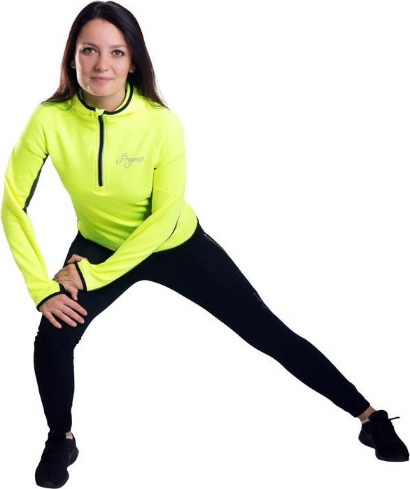 Černo-žlutá dámská běžecká mikina Progress