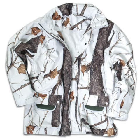 Bílo-šedá lovecká bunda MIL-TEC