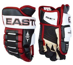 """Bílo-modré hokejové rukavice - junior Synergy SE6, Easton - velikost 11"""""""