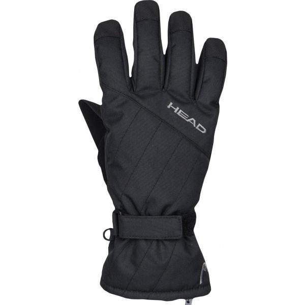 Černé dětské lyžařské rukavice Head - velikost 11-13 let