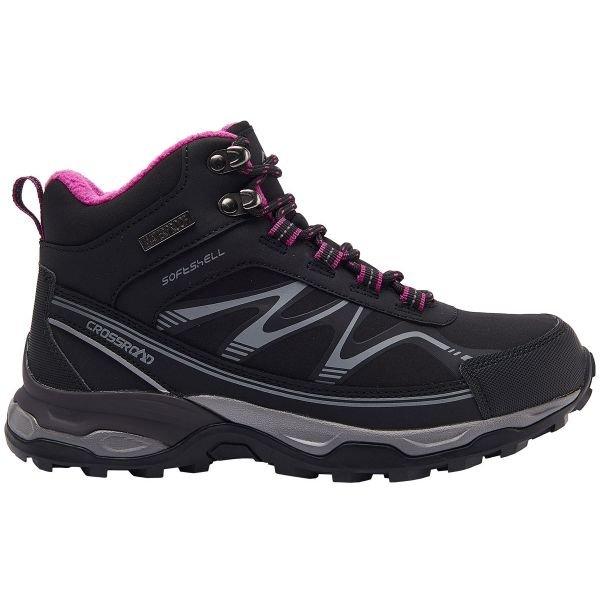 Černé voděodolné dámské trekové boty Crossroad