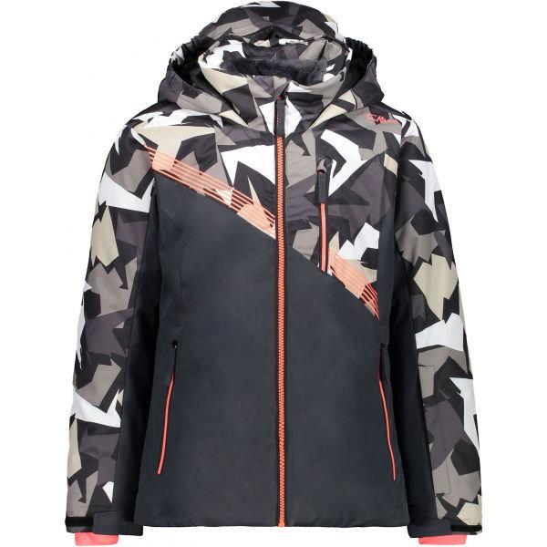 Šedá dívčí lyžařská bunda CMP