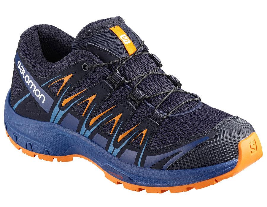 Modré dětské trekové boty Salomon - velikost 33 EU