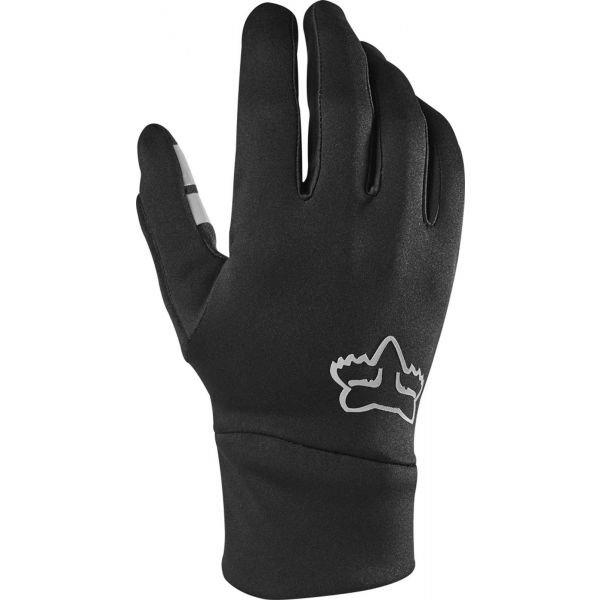 Černé zimní pánské cyklistické rukavice Fox