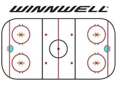 Hokejová trenérská tabule - Trenérská tabule WinnWell 110x80 cm